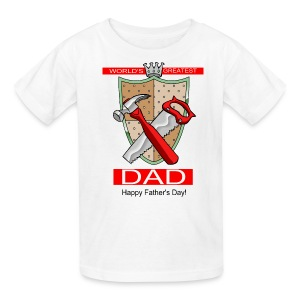 World's Greatest Dad T-Shirt For Kids - Kids' T-Shirt