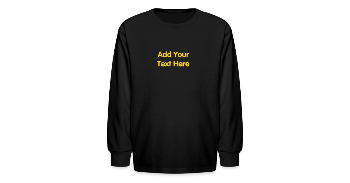 Personalized souvenirs kids long sleeve t shirt design for Design your own t shirt big and tall