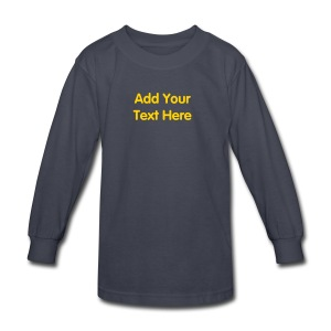 Kids Long Sleeve T-Shirt Design Template with your own text. - Kids' Long Sleeve T-Shirt