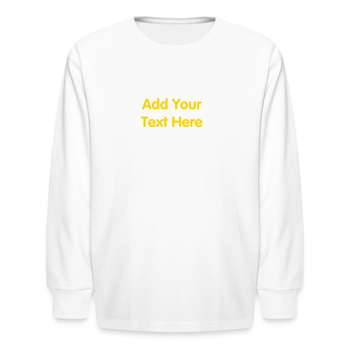 Kids long sleeve t shirt design template with your own for Design your own t shirt big and tall