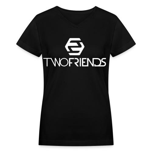 2F | Black Women T-Shirt - Women's V-Neck T-Shirt