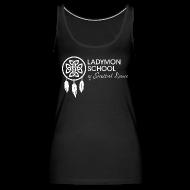 Tanks ~ Women's Premium Tank Top ~ Women's Ladymon White Logo Tank