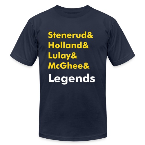 LEGENDS BLUE - Men's Fine Jersey T-Shirt