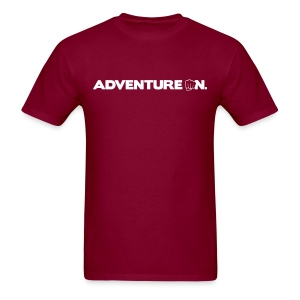 Adventure On T - White Logo - Men's T-Shirt