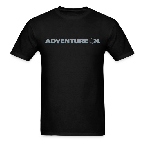 Adventure On T - Silver Logo - Men's T-Shirt