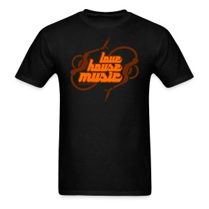 Love House Music Orange font Men's T-shirt - Men's T-Shirt