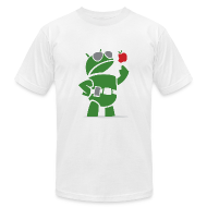 T-Shirts ~ Men's T-Shirt by American Apparel ~ Android eats apples
