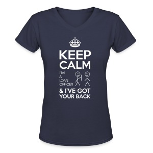Keep Calm Loan V-Neck - Women's V-Neck T-Shirt