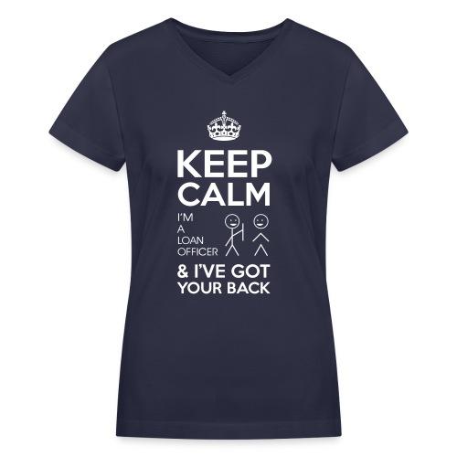 Keep Calm Loan V-Neck - Women's V-Neck T-Shirt