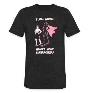 Superpower Female Unisex - Unisex Tri-Blend T-Shirt by American Apparel
