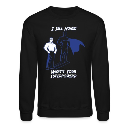 Superpower Male Crew Sweatshirt - Crewneck Sweatshirt