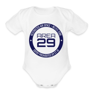 Baby Area 29: No Fly Zone - Short Sleeve Baby Bodysuit