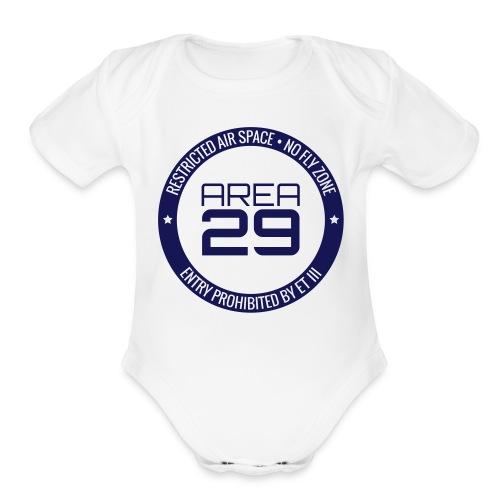 Baby Area 29: No Fly Zone - Organic Short Sleeve Baby Bodysuit