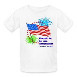 Proud To Be An American T-Shirt For Kids - Kids' T-Shirt