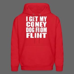 I Get My Coney Dog Fro Flint - Men's Hoodie