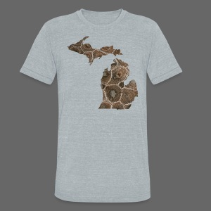 Michigan Stone - Unisex Tri-Blend T-Shirt by American Apparel