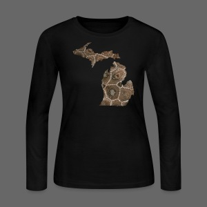 Michigan Stone - Women's Long Sleeve Jersey T-Shirt