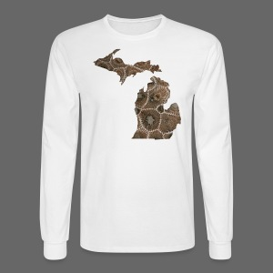 Michigan Stone - Men's Long Sleeve T-Shirt