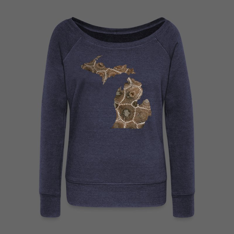 Michigan Stone - Women's Wideneck Sweatshirt