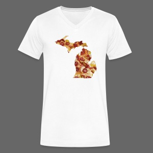 Pizza Michigan - Men's V-Neck T-Shirt by Canvas