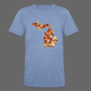 Pizza Michigan - Unisex Tri-Blend T-Shirt by American Apparel