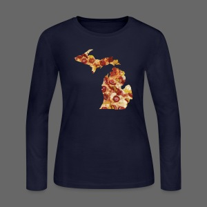 Pizza Michigan - Women's Long Sleeve Jersey T-Shirt