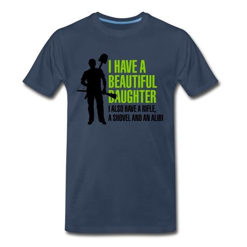 Touch my daugther, i won't hesitate - Men's Premium T-Shirt