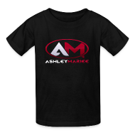 Kids' Shirts ~ Kids' T-Shirt ~ AshleyMarieeGaming Logo - Black T-Shirt Premium (Female)