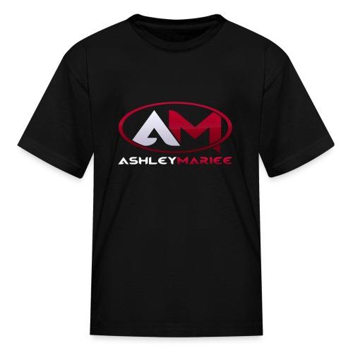 AshleyMarieeGaming Logo - Black T-Shirt Premium (Female) - Kids' T-Shirt