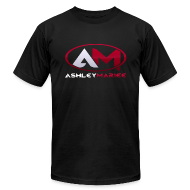 T-Shirts ~ Men's T-Shirt by American Apparel ~ AshleyMarieeGaming Logo - Black T-Shirt American Apparel (Male)