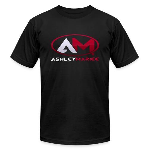 AshleyMarieeGaming Logo - Black T-Shirt American Apparel (Male) - Men's Fine Jersey T-Shirt