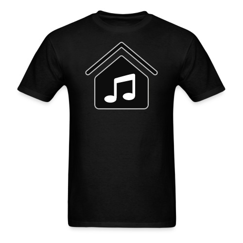House Music Logo Black Men's T-Shirt - Men's T-Shirt