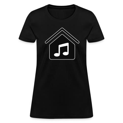 House Music Logo Black Women's T-Shirt - Women's T-Shirt