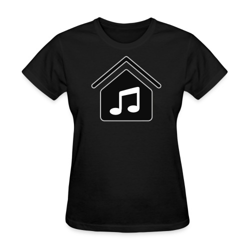 House Music Logo Black Women's T-Shirt - Women's T-Shirt