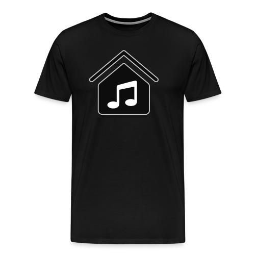 House Music Logo Black Men's Premium T-Shirt - Men's Premium T-Shirt