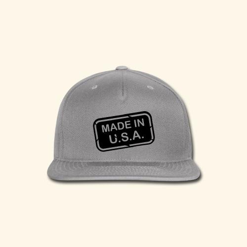 Made in U.S.A. - Snap-back Baseball Cap