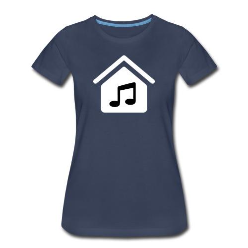 House Music Logo White Women's Premium T-Shirt - Women's Premium T-Shirt