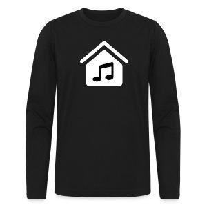 House Music Logo White Men's Long Sleeve T-Shirt by American Apparel - Men's Long Sleeve T-Shirt by Next Level