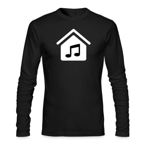 House Music Logo White Men's Long Sleeve T-Shirt by American Apparel - Men's Long Sleeve T-Shirt by Next Level