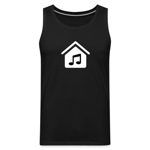 House Music Logo White Men's Premium Tank Top - Men's Premium Tank