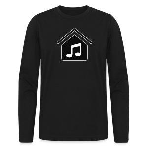 House Music Logo Black Men's Long Sleeve T-Shirt by American Apparel - Men's Long Sleeve T-Shirt by Next Level