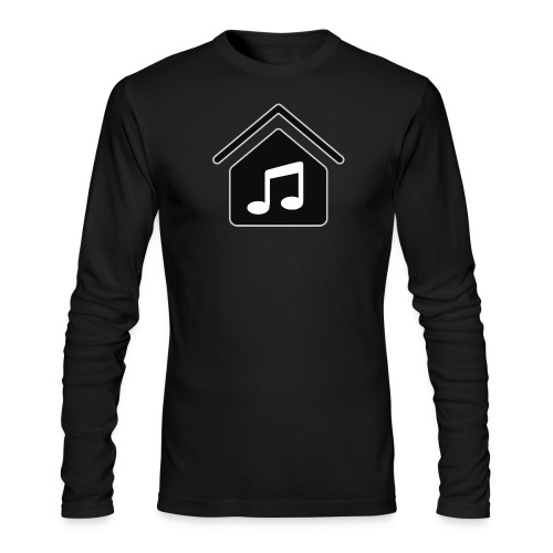 House Music Logo Black Men's Long Sleeve T-Shirt by American Apparel - Men's Long Sleeve T-Shirt by Next Level