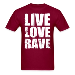 Live Love Rave Men's T-shirt - Men's T-Shirt