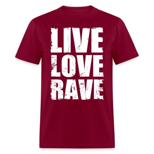 Live Love Rave Men's T-shirt - Men's T-Shirt
