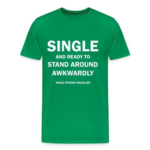 Single and Akward - Men's Premium T-Shirt