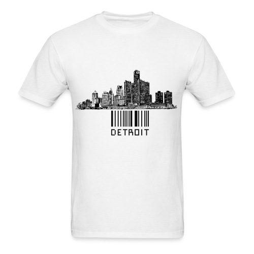 Detroit Bar Code Shirt - Men's T-Shirt