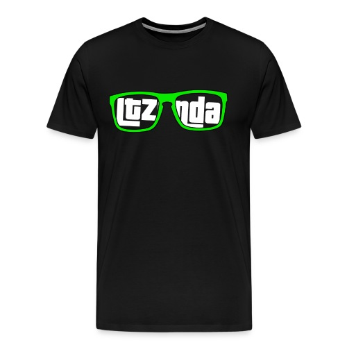 White Text Ltzonda Gunnars Tee - Men's Premium T-Shirt