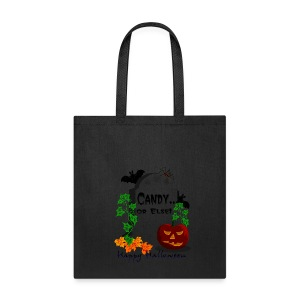 Candy Or Else Cotton Canvas Tote Bag - Tote Bag
