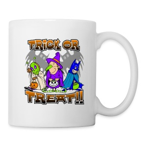 Trick Or Treat Warn Beverage Mug - Coffee/Tea Mug