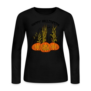 Happy Halloween Long Sleeve Jersey T-Shirt For Women - Women's Long Sleeve Jersey T-Shirt